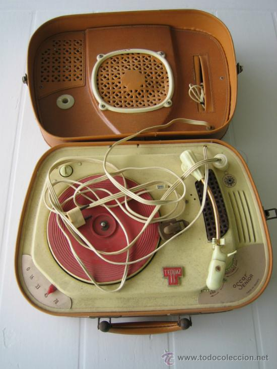 Radios antiguas: Tocadiscos de maleta TEPPAZ Oscar Senior. Made France años 50 o 60. Funciona - Foto 3 - 54317938