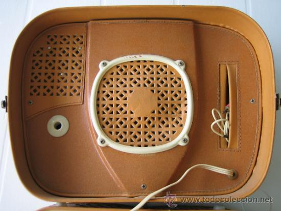 Radios antiguas: Tocadiscos de maleta TEPPAZ Oscar Senior. Made France años 50 o 60. Funciona - Foto 4 - 54317938