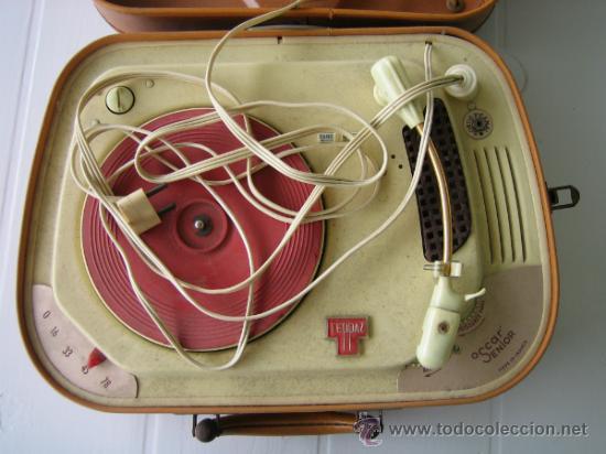 Radios antiguas: Tocadiscos de maleta TEPPAZ Oscar Senior. Made France años 50 o 60. Funciona - Foto 6 - 54317938