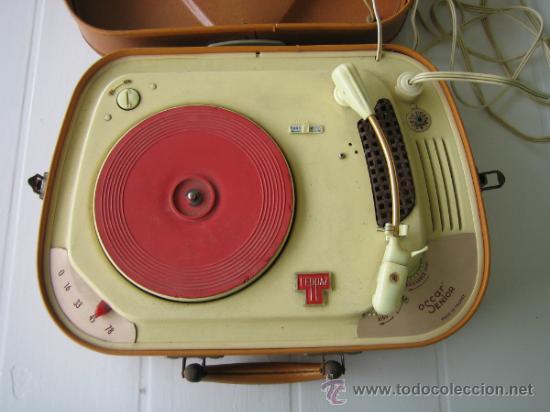 Radios antiguas: Tocadiscos de maleta TEPPAZ Oscar Senior. Made France años 50 o 60. Funciona - Foto 7 - 54317938