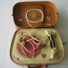 Radios antiguas: TOCADISCOS DE MALETA TEPPAZ OSCAR SENIOR. MADE FRANCE AÑOS 50 O 60. FUNCIONA. Lote 54317938