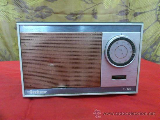 & RADIO. ANTIGUO TRANSISTOR INTER MODELO E-128. AM. FUNCIONA. (Radios, Gramófonos, Grabadoras y Otros - Transistores, Pick-ups y Otros)
