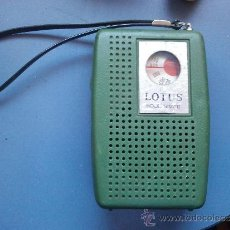 Radios antiguas: RADIO TRANSISTOR LOTUS ANTIGUA. Lote 35123841