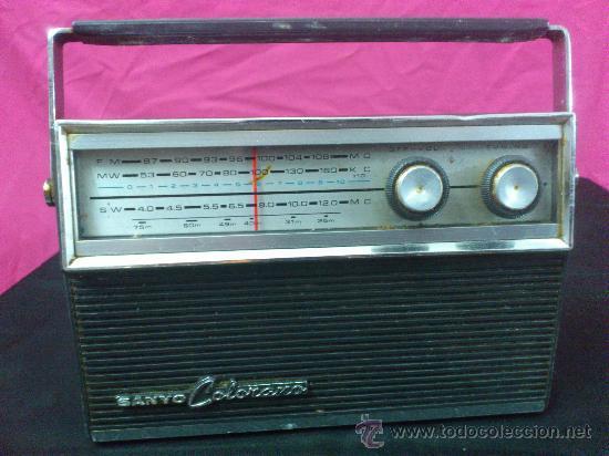 RADIO TRANSISTOR SANYO COLORANO. VINTAGE. FUNCIONA. (Radios, Gramófonos, Grabadoras y Otros - Transistores, Pick-ups y Otros)