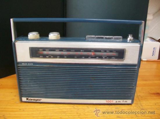RADIO TRANSISTOR KÖNIGER. (Radios, Gramófonos, Grabadoras y Otros - Transistores, Pick-ups y Otros)
