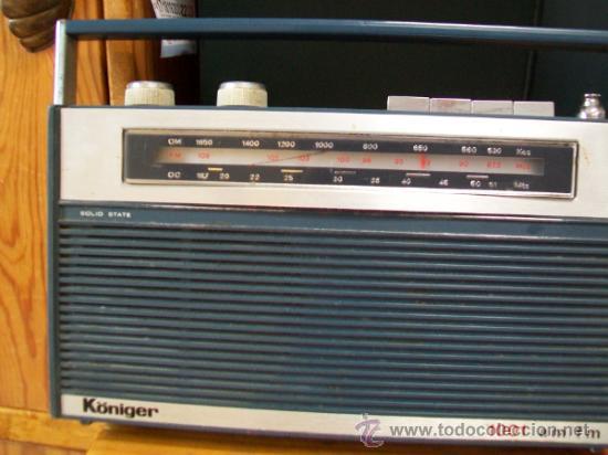Radios antiguas: Radio Transistor KÖNIGER. - Foto 8 - 35804674