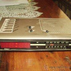 Radios antiguas: RADIO DESPERTADOR DIGITAL DE LOS AÑOS 80 DE LA MARCA OSKAR.. Lote 98819984