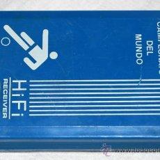 Radios antiguas: TRANSISTOR DEL CAMPEONATO MUNDIAL DE FUTBOL DEL AÑO 86 ( FUNCIONA) 10 X 6 CM +/-. Lote 36436416
