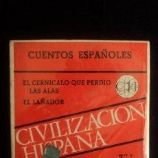 Radios antiguas: CINTA 3' 1/4 CUENTOS ESPAÑOLES. EL CERNICALO QUE PERDIO LAS ALAS. EL LEÑADOR. PRECINTADA. Lote 36472285
