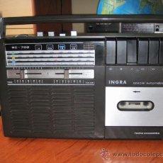 Radios antiguas: ANTIGUO RADIO CASSETTE INGRA FABRICACIÓN ESPAÑOLA PARA REPARAR LLEER. Lote 36505751