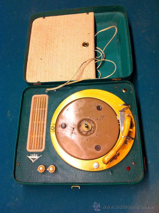 MALETA TOCADISCOS PORTATIL (Radios, Gramófonos, Grabadoras y Otros - Transistores, Pick-ups y Otros)