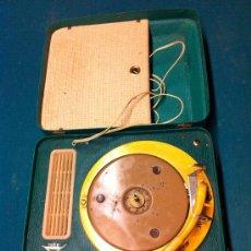Radios antiguas: MALETA TOCADISCOS PORTATIL. Lote 36623038