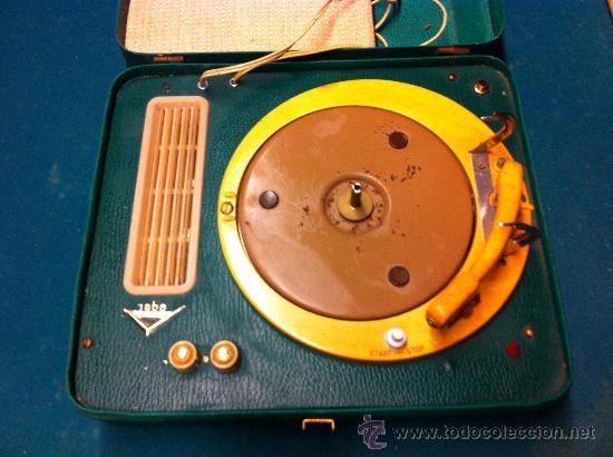 Radios antiguas: MALETA TOCADISCOS PORTATIL - Foto 2 - 36623038