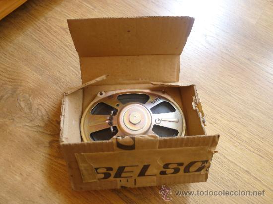 Radios antiguas: Antiguo altavoz en su caja original Roselson - Foto 3 - 37202798