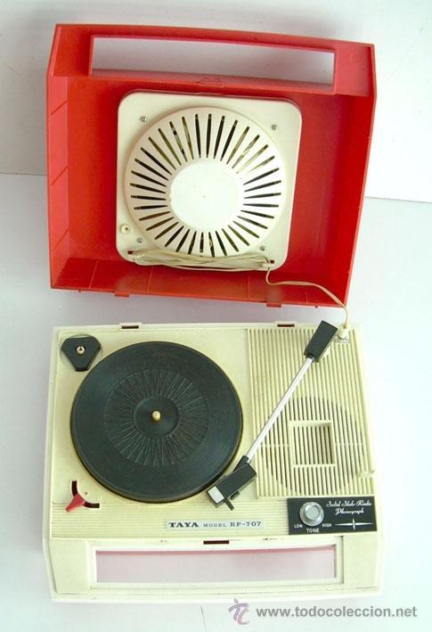 ANTIGUO RADIO TOCADISCOS JAPONÉS, MARCA TAYA, AÑOS 60, FUNCIONANDO (Radios, Gramófonos, Grabadoras y Otros - Transistores, Pick-ups y Otros)