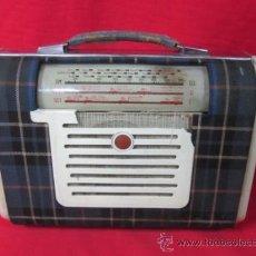 Radios antiguas: RADIO PICK UP MARCONI CON TELA ESCOCESA.. Lote 37615740