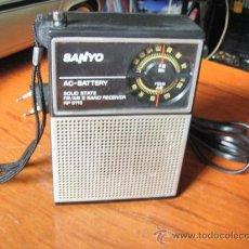 Radios antiguas: RADIO TRANSISTOR SANYO FUNCIONA PERFECTO. Lote 37756162