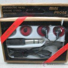 Radios antiguas: MINI PHONE HD - 11A - AURICULARES CON CLAVIJA GRANDE. Lote 37892405