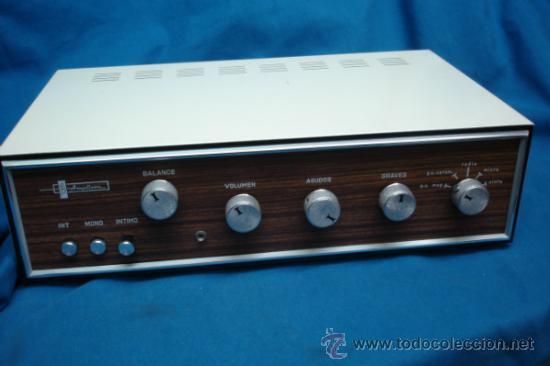 ANTÍGUO AMPLIFICADOR MARCA AMPLISON 10A DE LOS AÑOS 60/70 (Radios, Gramófonos, Grabadoras y Otros - Transistores, Pick-ups y Otros)