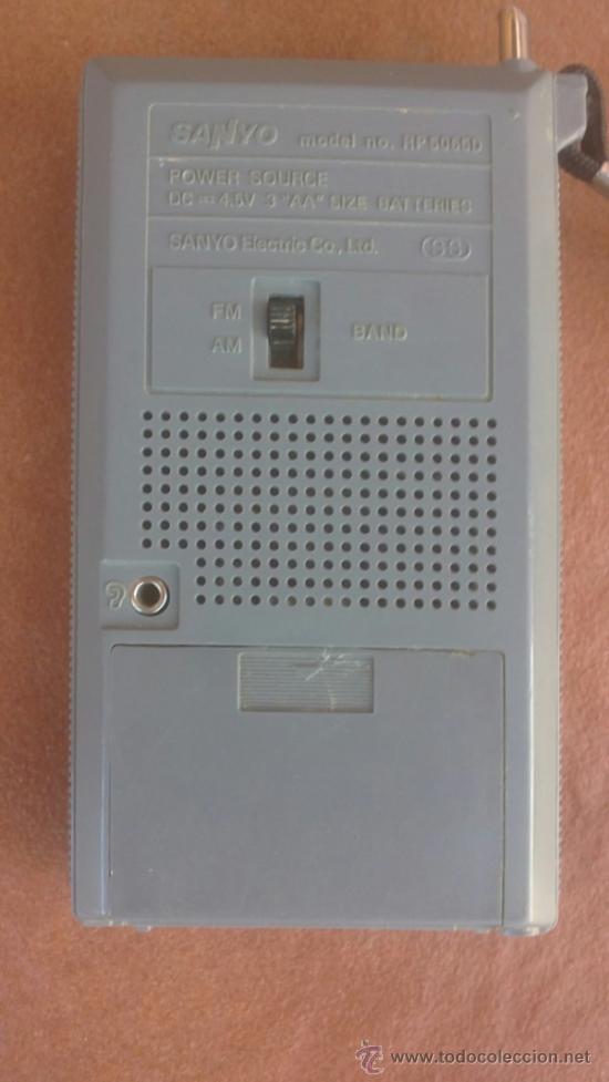 Radios antiguas: ANTIGUO TRANSISTOR SANYO..AM-FM.FUNCIONA. - Foto 2 - 39048654
