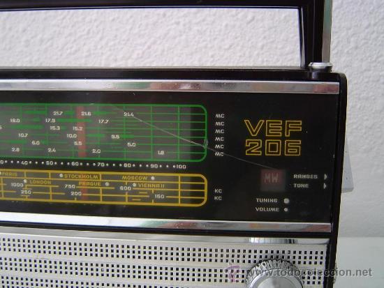 RADIO MULTIBANDAS VEF 206 (Radios, Gramófonos, Grabadoras y Otros - Transistores, Pick-ups y Otros)