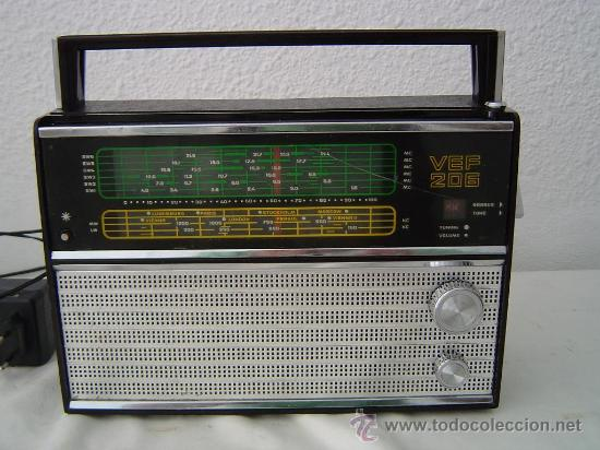 Radios antiguas: RADIO MULTIBANDAS VEF 206 - Foto 2 - 146029024