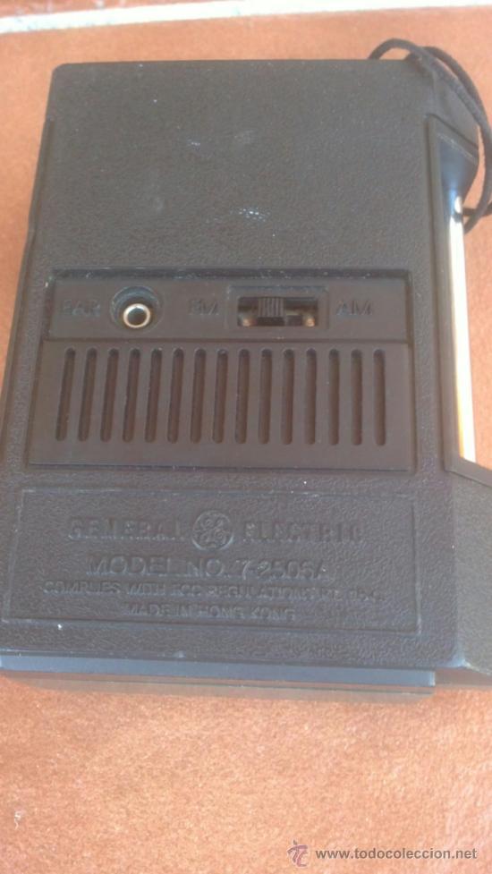Radios antiguas: ANTIGUO TRANSISTOR RADIO GENERAL ELECTRIC MODEL:7-2506A - Foto 3 - 39142683