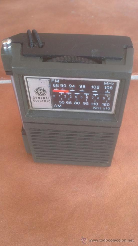 Radios antiguas: ANTIGUO TRANSISTOR RADIO GENERAL ELECTRIC MODEL:7-2506A - Foto 2 - 39142683