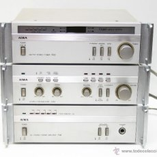 Radios antiguas: AMPLIFICADOR+PREVIO+SINTONIZADOR EQUIPO HIFI MINI COMPONENTE AIWA SERIE 30. Lote 39665165