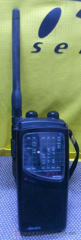 . RADIO TRANSISITOR SUPERTECH MULTI BAND PORTABLE RADIO RECEIVER. FUNCIONANDO (Radios, Gramófonos, Grabadoras y Otros - Transistores, Pick-ups y Otros)
