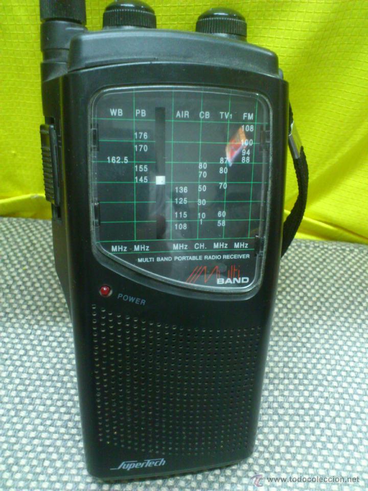 Radios antiguas: . RADIO TRANSISITOR SUPERTECH MULTI BAND PORTABLE RADIO RECEIVER. FUNCIONANDO - Foto 4 - 172202560