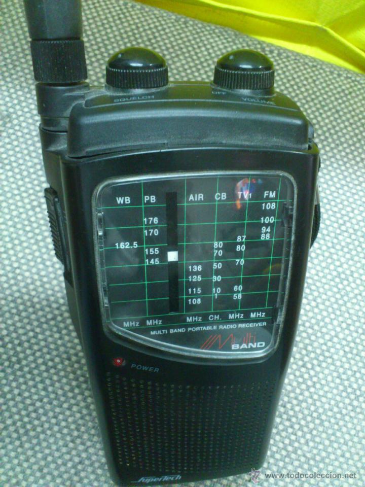 Radios antiguas: . RADIO TRANSISITOR SUPERTECH MULTI BAND PORTABLE RADIO RECEIVER. FUNCIONANDO - Foto 10 - 172202560