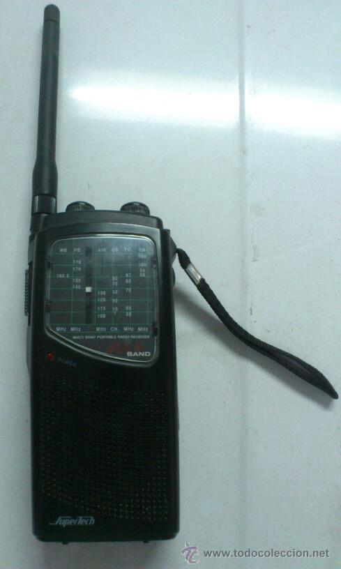 Radios antiguas: . RADIO TRANSISITOR SUPERTECH MULTI BAND PORTABLE RADIO RECEIVER. FUNCIONANDO - Foto 2 - 172202560
