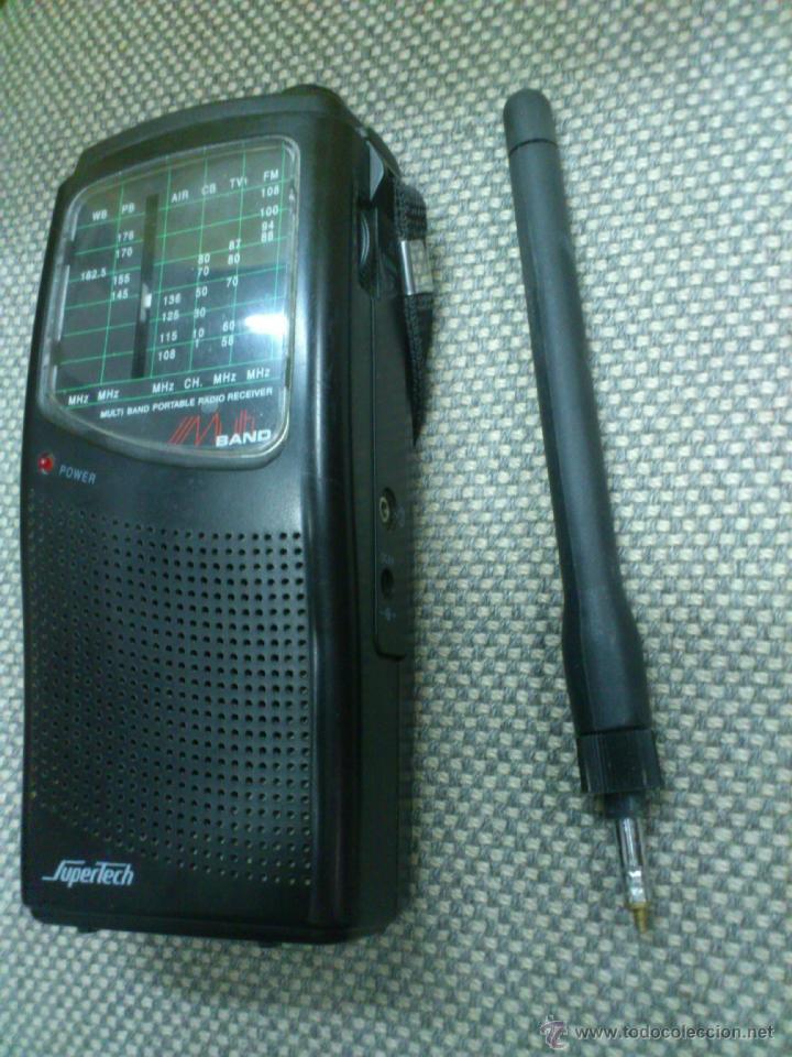 Radios antiguas: . RADIO TRANSISITOR SUPERTECH MULTI BAND PORTABLE RADIO RECEIVER. FUNCIONANDO - Foto 11 - 172202560