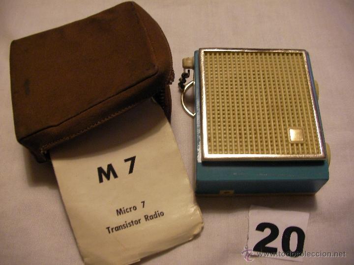 ANTIGUA RADIO MICRO 7 EN SU FUNDA CON INSTRUCCIONES (Radios, Gramófonos, Grabadoras y Otros - Transistores, Pick-ups y Otros)