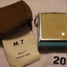 Radios antiguas: ANTIGUA RADIO MICRO 7 EN SU FUNDA CON INSTRUCCIONES. Lote 39973255