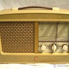 Radios antiguas: RADIO PHILIPS LS 452 UB DE SUECIA A 220 V, , FUNCIONA AÑO 55. MED. 38 X 14,50 X 24 CM. Lote 39985272