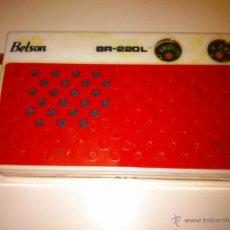 Radios antiguas: ANTIGUO TRANSISTOR BELSON BR 220L.CAJA Y ESQUEMA ORIGINAL.. Lote 39994565