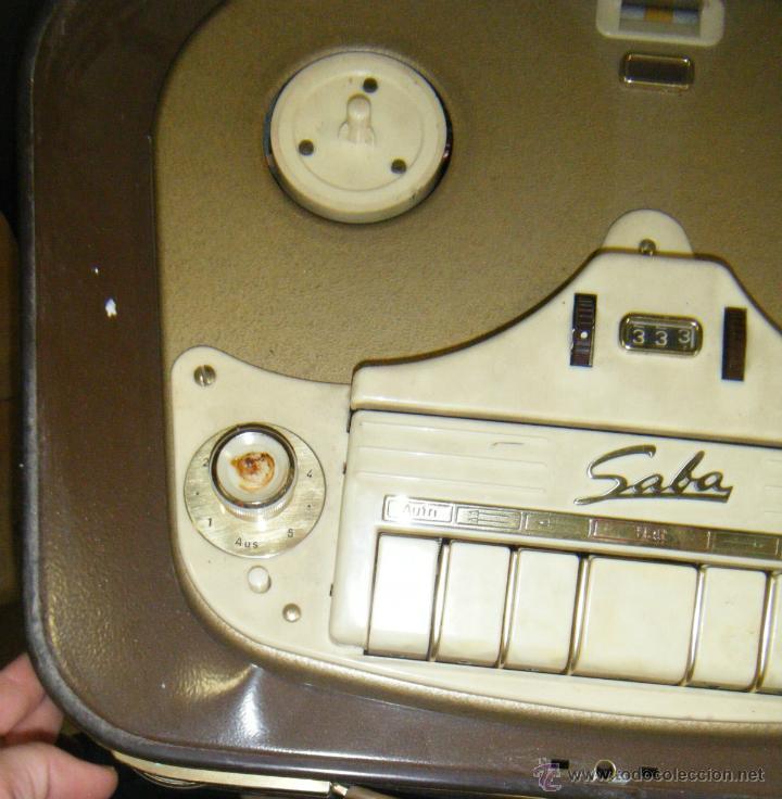Radios antiguas: RADIO GRABADOR MARCA SABA. DESCONOZCO ANTIGUEDAD Y FUNCIONAMIENTO. VER FOTOS. EN GENERAL - Foto 4 - 40025753