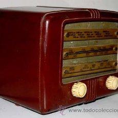 Radios antiguas: ANTIGUA RADIO A VALVULAS - MIDE 24 X 18 X 12 CMS. . - NO HE COMPROBADO SU FUNCIONAMIENTO, AUNQUE PIE. Lote 38237494