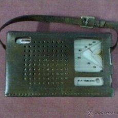 Radios antiguas: RADIO TRANSISTOR USHA DE LUXE ST-7 FUNCIONANDO FUNDA DE CUERO. Lote 41602974