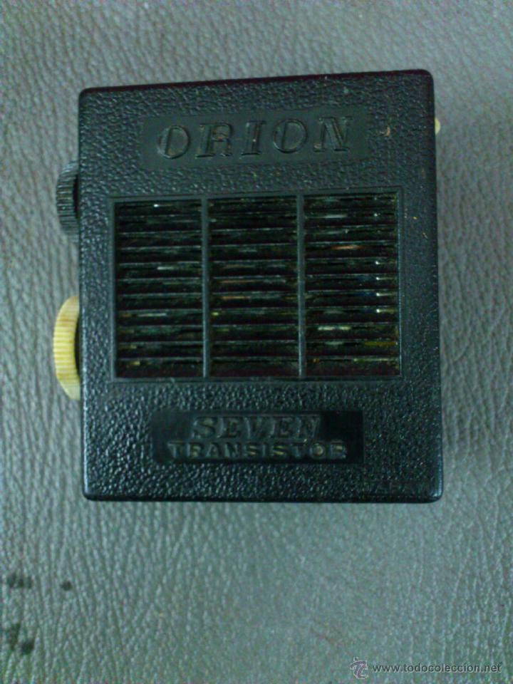 Radios antiguas: RADIO MARCA ORION , SEVEN TRANSISTOR, AM. - Foto 5 - 41854237