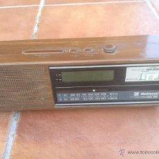 Radios antiguas: RADIO RELOJ NATIONAL MODEL,R.C-6075 SURE TIME.28X7CM. Lote 42252246
