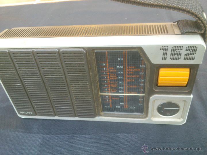 Radios antiguas: RADIO TRANSISTOR PHILIPS 90 AL 162 .FUNCIONANDO - Foto 3 - 42533027