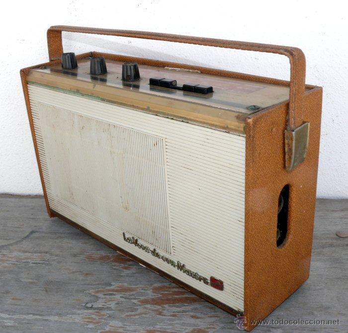 BONITA RADIO TRANSISTOR LA VOZ DE SU AMO FRANCESA DE MALETIN ANTIGUA (Radios, Gramófonos, Grabadoras y Otros - Transistores, Pick-ups y Otros)