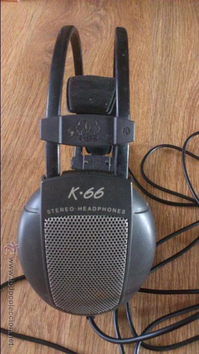 AURICULARES AKG K 66 NO FUNCIONAN PARA REPARAR. (Radios, Gramófonos, Grabadoras y Otros - Transistores, Pick-ups y Otros)