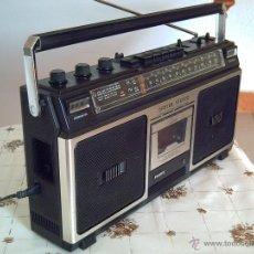 Radios antiguas: RADIOCASSETTE-BOOMBOX PHILIPS MOD. 8210 STEREO SPATIAL, AÑOS 80, FUNCIONANDO CORRECTAMENTE, LEER... Lote 131723827