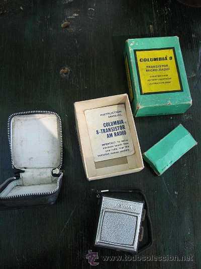 Radios antiguas: ANTIGUA MICRO RADIO COLUMBIA 8 TRANSISTORES EN CAJA COMPLETA - Foto 5 - 43560804