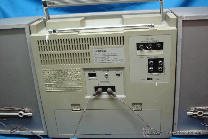 Radios antiguas: APARATO DE MÚSICA MARCA TOBISHI DE GRAN TAMAÑO DE LOS AÑOS 80 - FUNCIONA BIEN - Foto 4 - 43775061
