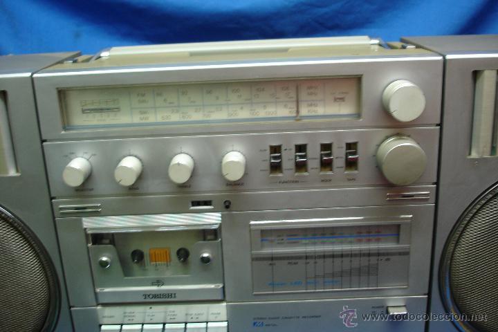 Radios antiguas: APARATO DE MÚSICA MARCA TOBISHI DE GRAN TAMAÑO DE LOS AÑOS 80 - FUNCIONA BIEN - Foto 6 - 43775061
